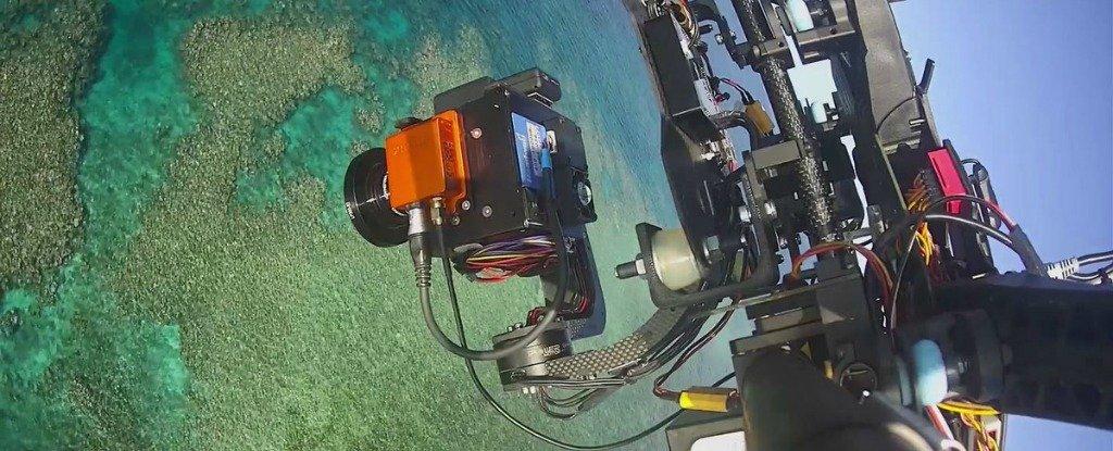 Mappa GPS per la barriera corallina tramite droni