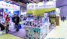 Titanium Square Skimmers and more at Macro Aqua's stand at Cips 2017