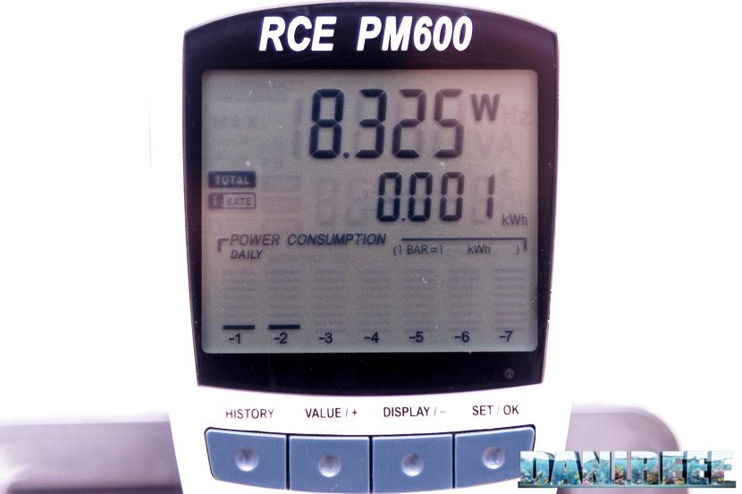 Acquario marino Askoll Pure Marine XL HC Led: consumo barra led canale blu