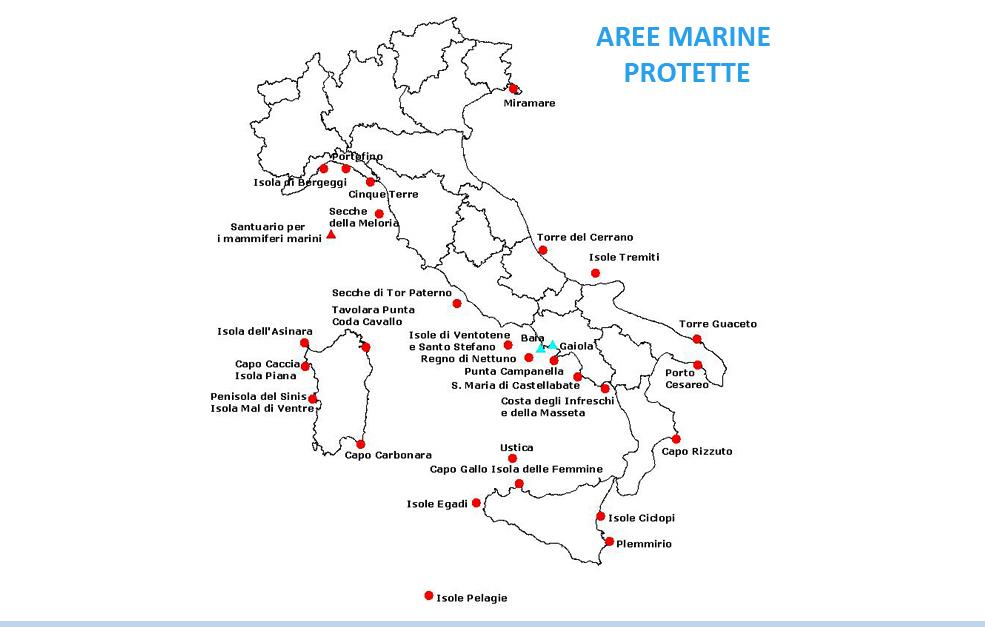 Aree marine protette in Italia