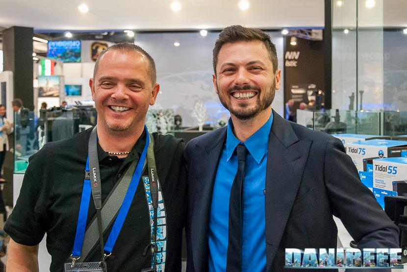 DaniReef con Andrea Ongaro all'Interzoo del 2018