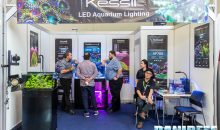 Interzoo 2018: Kessil's booth with fresh water and marine ceiling lights