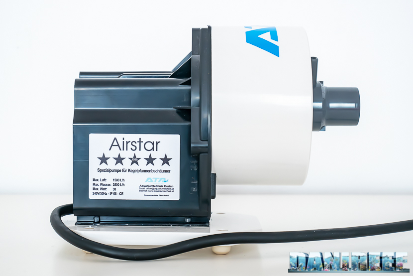 ATB Medium Size 25 - recensione dello schiumatoio da oltre 1300 l/h d'aria: la pompa askoll