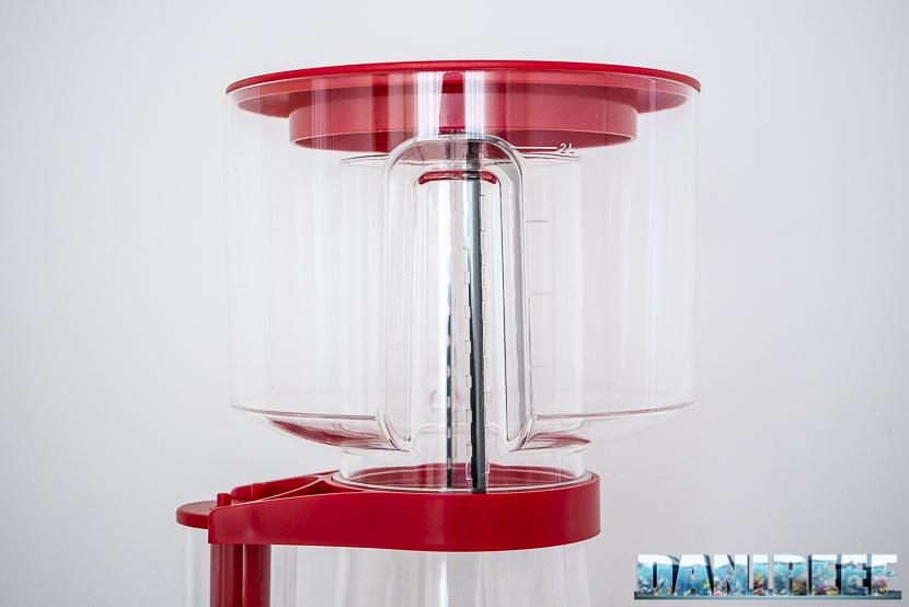 Red Sea RSK600 – La recensione dello schiumatoio senza manutenzione - particolare del bicchiere