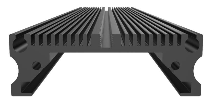 Plafoniera GHL Mitras Slimline a LED: particolare del raffreddamento