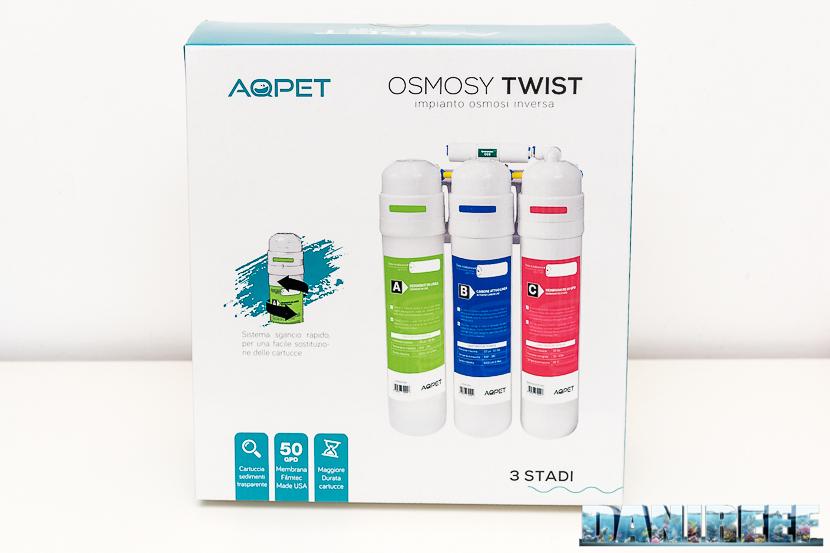 Impianto di osmosi inversa a sgancio rapido Aqpet Osmosy Twist: confezione