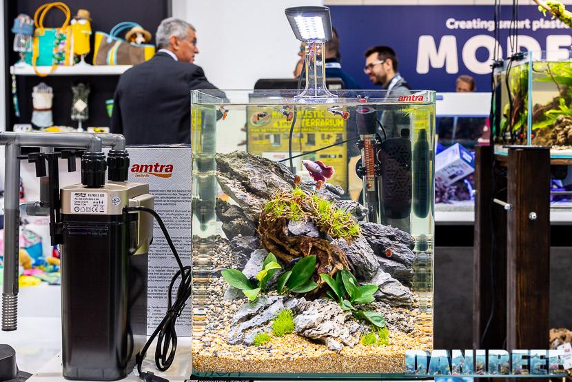 Zoomark 2019: lo stand AMTRA e la nuova lampada a led su un acquario di acqua dolce