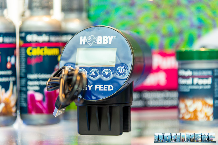 Lo stand Aquaristica allo zoomark 2019: la nuova mangiatoia automatica Hobby Easy Feed