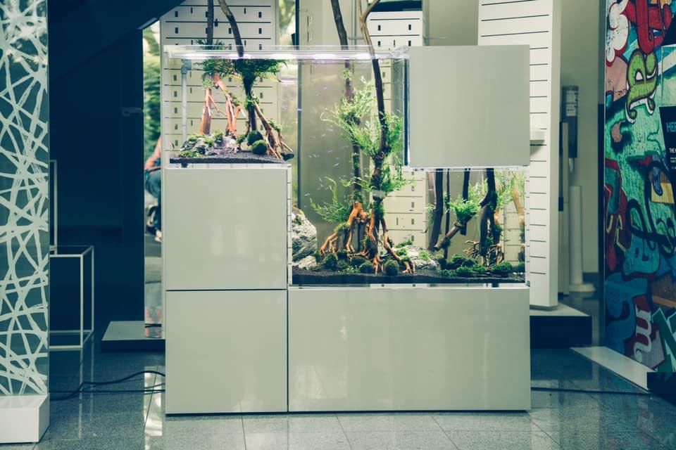 L'acquario Tetris della New Wave - design allo stato puro