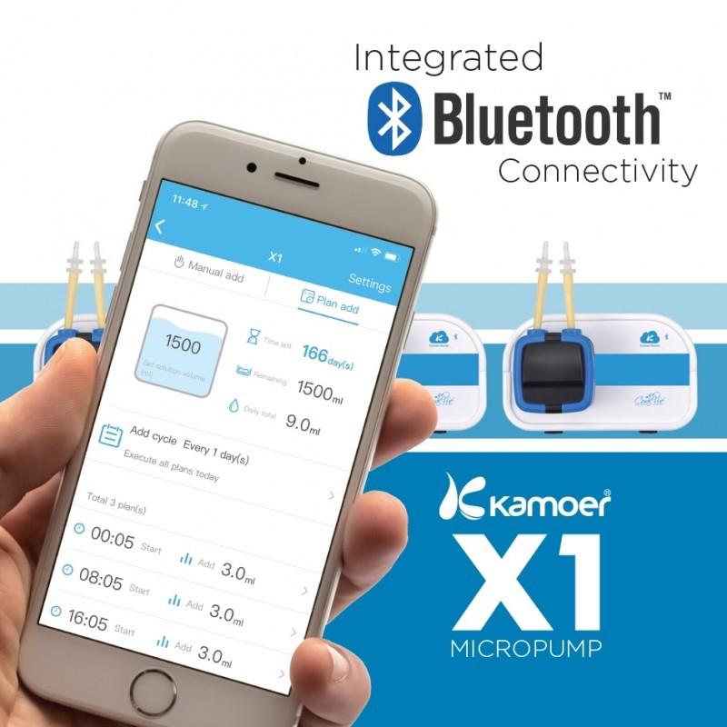 Una pompa dosatrice bluetooth: la Kamoer X1 Micropump: app X1 Pump