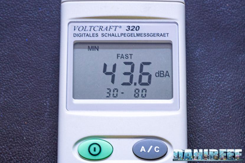 Red Sea RSK600 – La recensione dello schiumatoio senza manutenzione - valore di rumore misurato