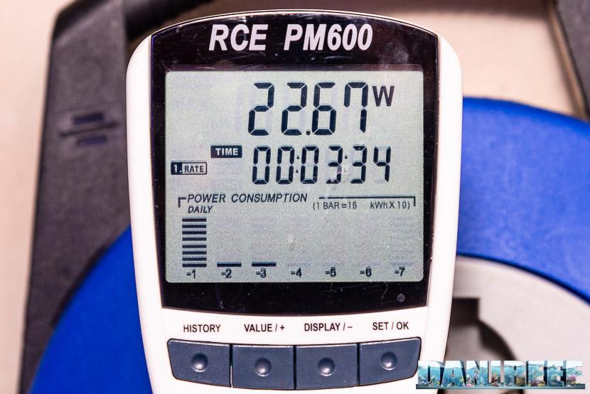 Red Sea RSK600 – La recensione dello schiumatoio senza manutenzione - valore di consumo misurato