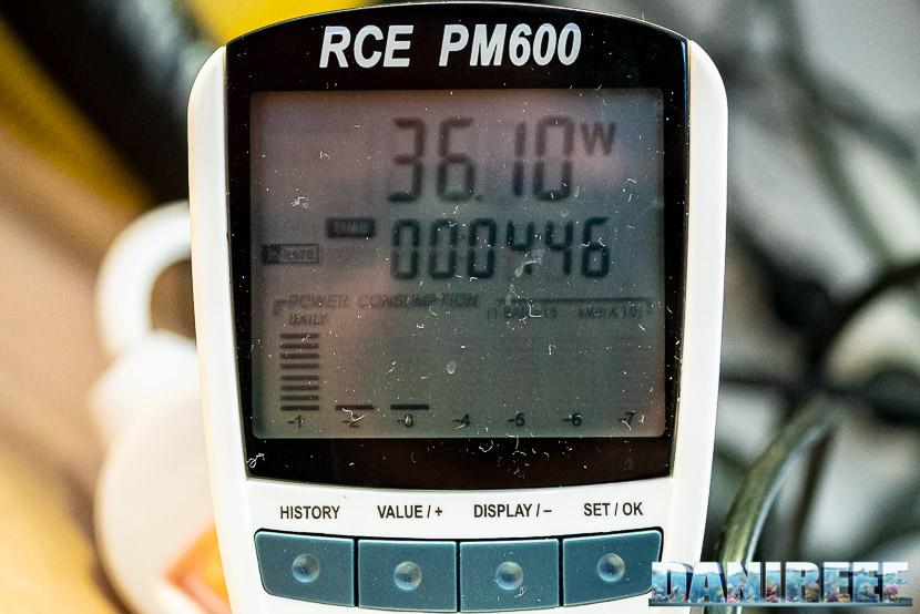 ATB Medium Size 25 - recensione dello schiumatoio da oltre 1300 l/h d'aria: misurazione del consumo