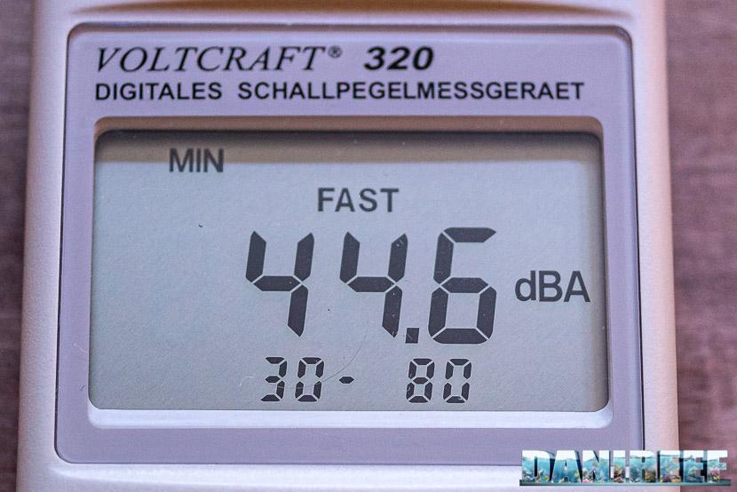 ATB Medium Size 25 - recensione dello schiumatoio da oltre 1300 l/h d'aria: misurazione del rumore