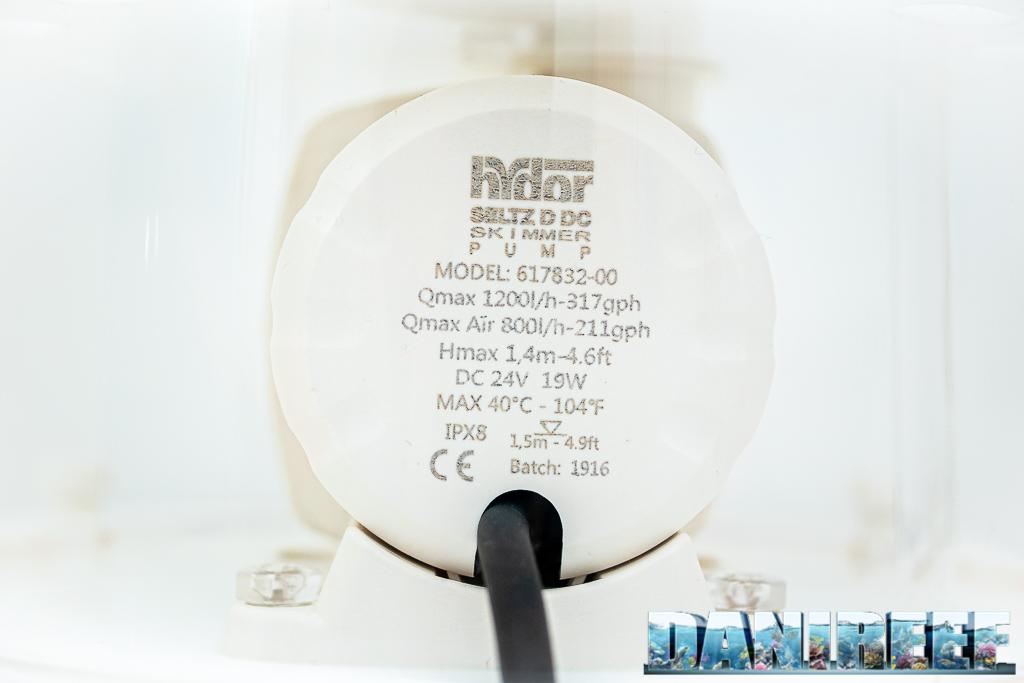 Il nuovo schiumatoio Hydor E-SK1000 DC in anteprima mondiale con temporizzatore: pompa di schiumazione