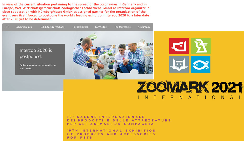 Editoriale CoronaVirus: Interzoo oltre il 2020 e Zoomark all'attacco