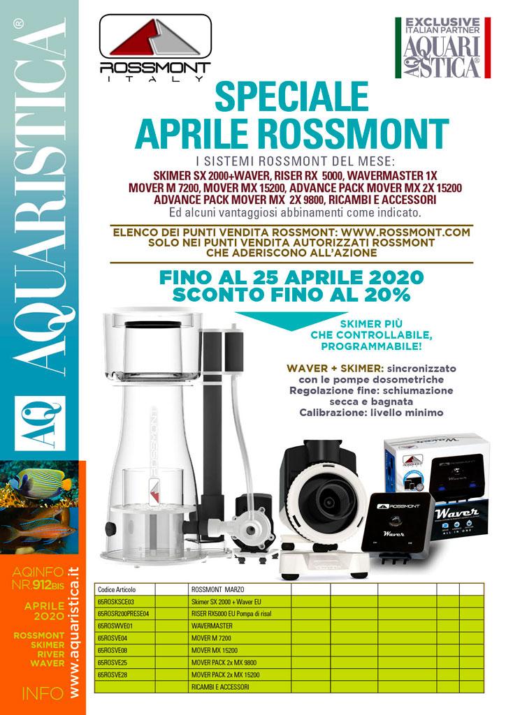 Speciale Aprile Rossmont sconti fino al 20% con termine 25 aprile 2020
