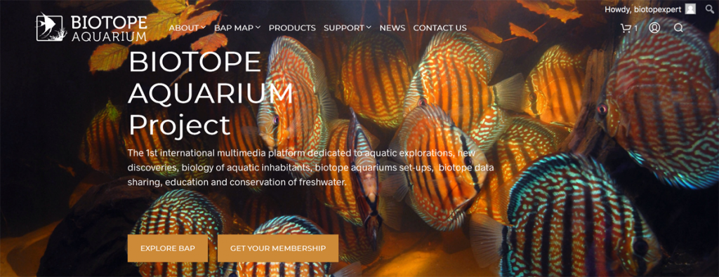 BAP - Biotope Aquarium Projet - il progetto sui Biotopi è online