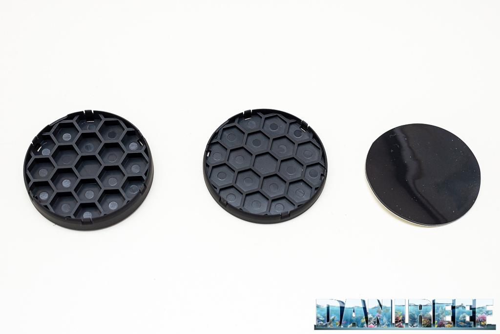 VorTech MP40QD - recensione - è ancora la regina delle pompe? - I tre pin spacer compresi nella confezione