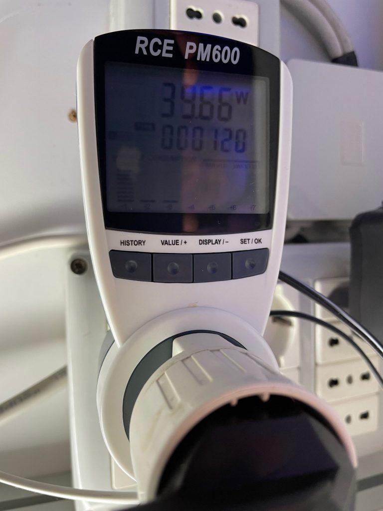 VorTech MP40QD - recensione - è ancora la regina delle pompe? - consumo rilevato