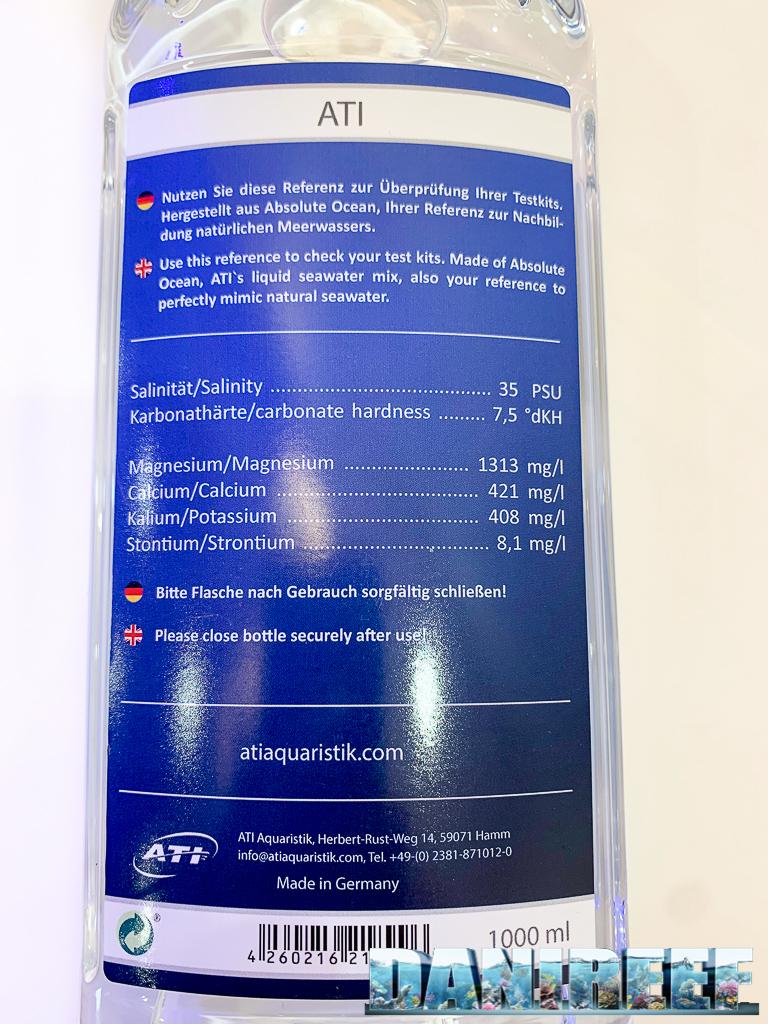 L'etichetta posteriore della ATI Analytics Reference riporta i valori degli elementi ponderati.